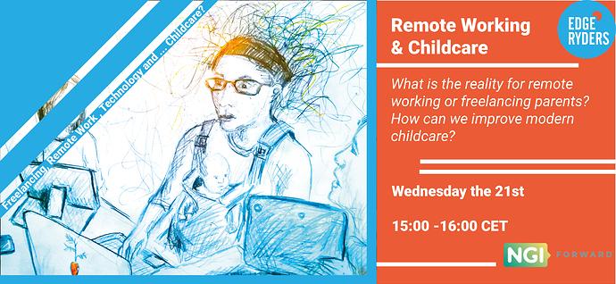 freelancer childcare event flyer