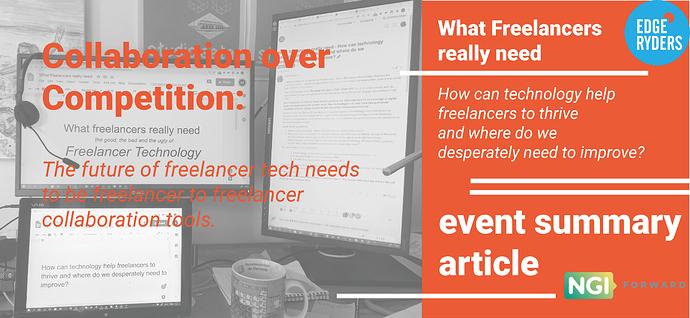 freelancer tech event followup flyer