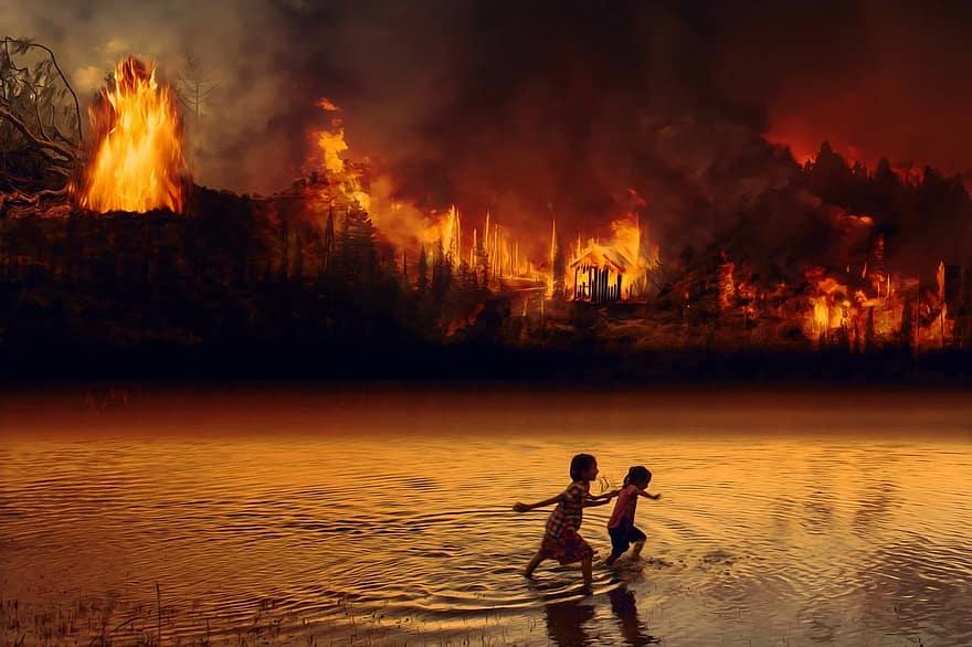 fire-forest-fire-children-fear-flame-amazon-rainforest-wilderness-nature